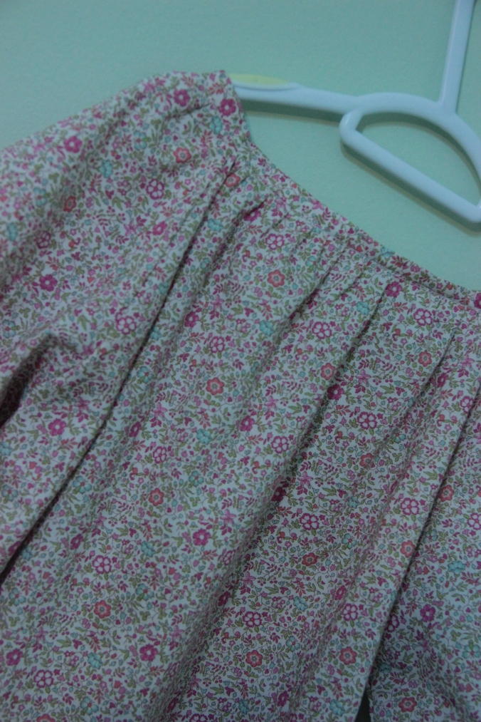 Liberty lawn, so classic, this design is just the prettiest for a little girl. This is the back.