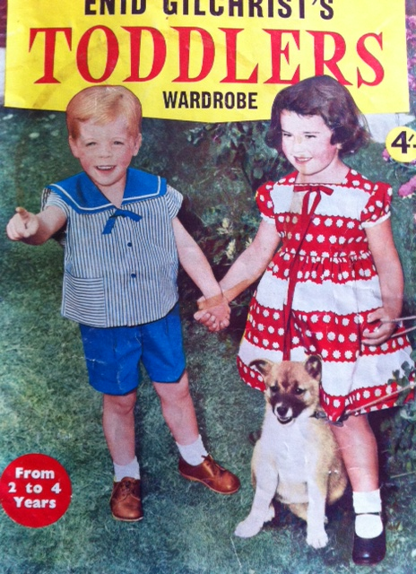 Enid Gilchrist's Toddler's Wardrobe pattern book cover...