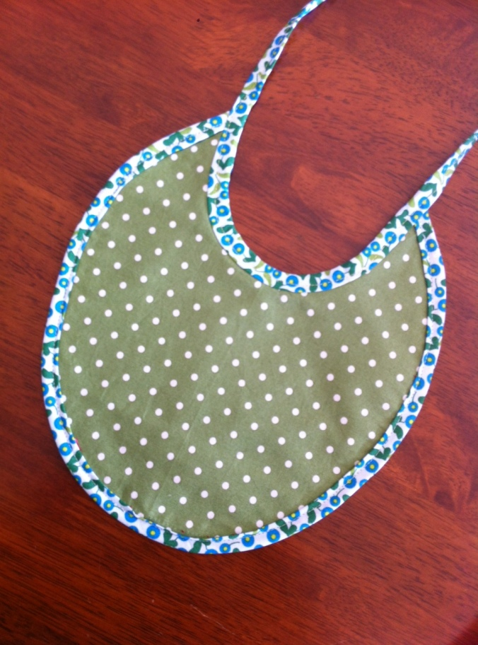 Enid Gilchrist bib- the other side... the bias binding was made using offcuts from the halter dress I made earlier in the week.