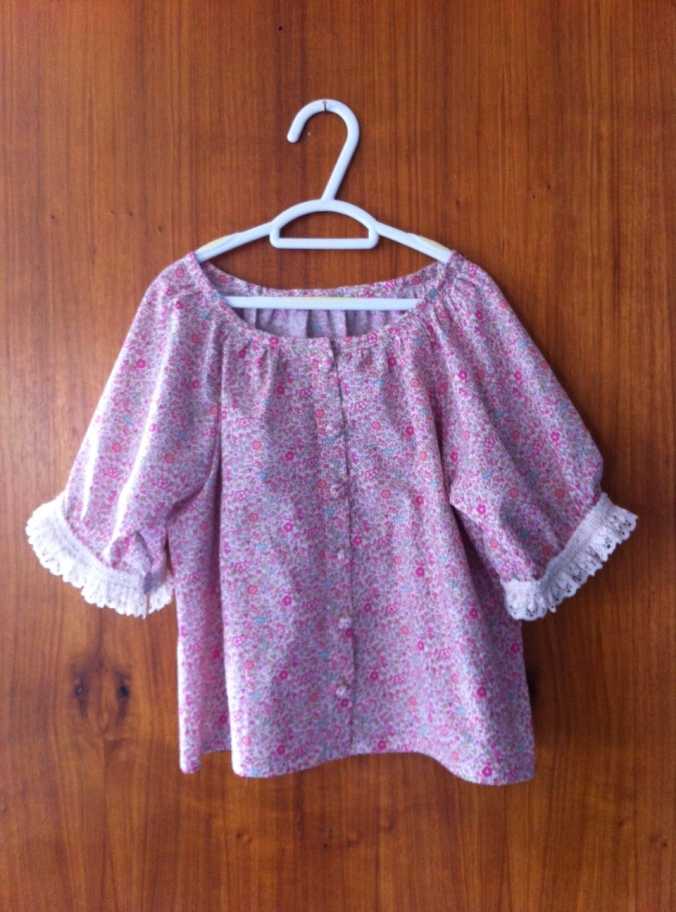 The front of the blouse from A Sunny Spot japanese pattern book