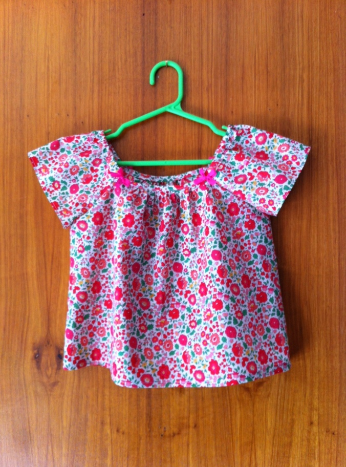 "A pretty peasant blouse, made up using pattern C12 in ""A Sunny Spot"""