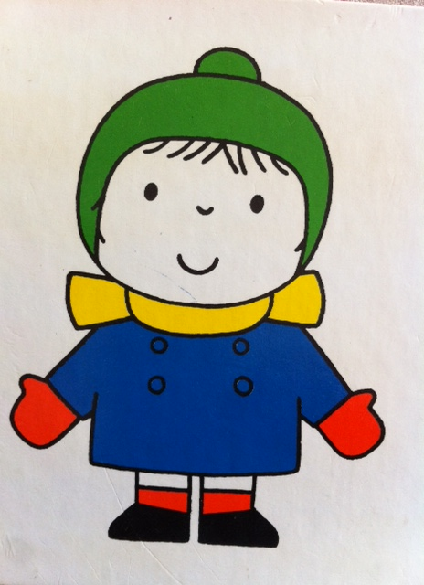 "Kids Clothes Week this week... this is an image from Dick Bruna's book, ""My Vest iS White""... Love his illustrations, so does my son!"