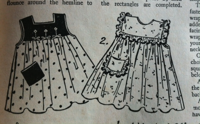 The original Enid Gilchrist dress illustration