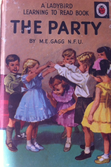 The Party- a Ladybird book full of gorgeous illustrations, girls dresses beautifully rendered and nostalgia...