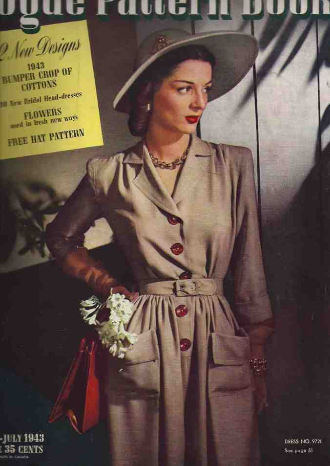 Cover of June July 1943 Vogue Pattern Book