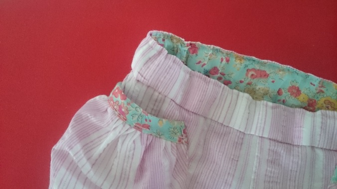 puppet show shorts with Liberty lining at the waistband