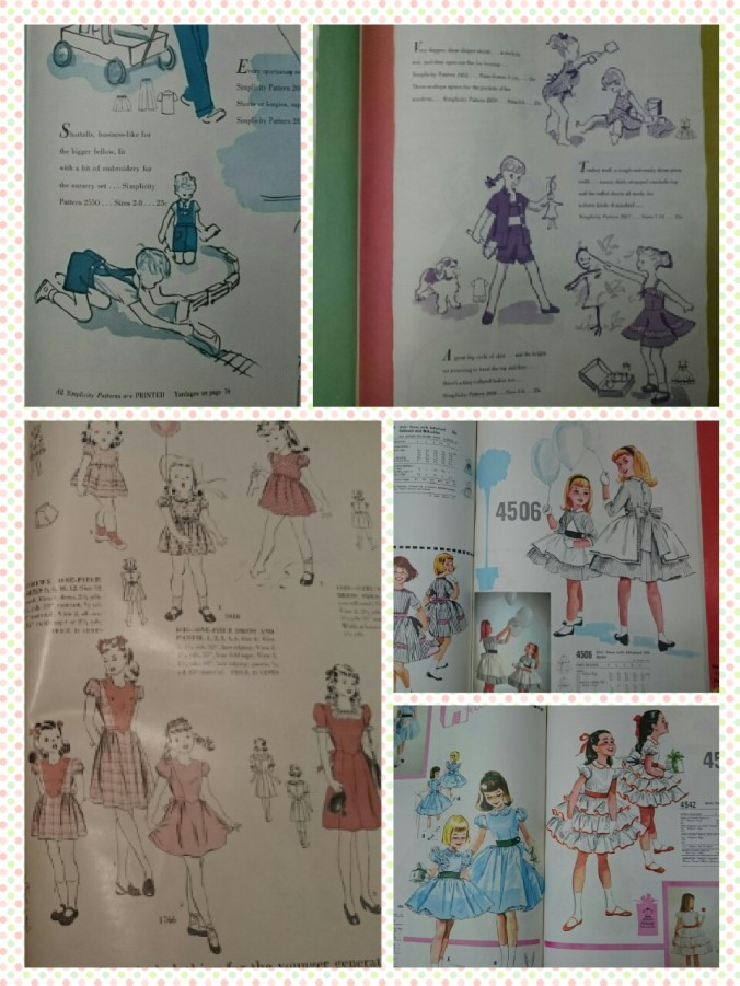 Late 50s kids fashions.. for a little sewing inspiration