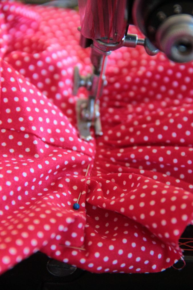 Smock 50s featherweight sewing detail