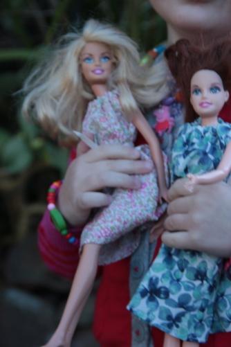 Barbies in McCalls dresses