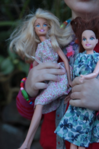 Barbies in McCalls dresses