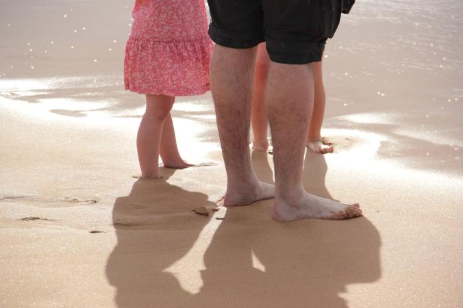 beach shadows